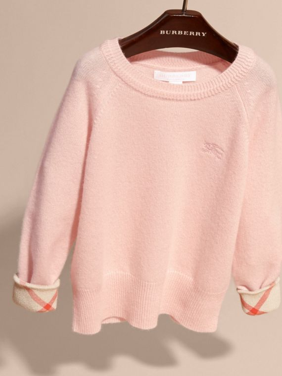 Blossom Check Cuff Cashmere Sweater Blossom - cell image 2