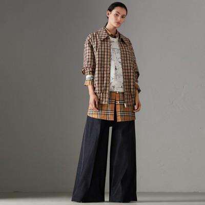 Jeans Aus Japanischem Stretchdenim Mit Weiter Beinpartie, Steel Blue