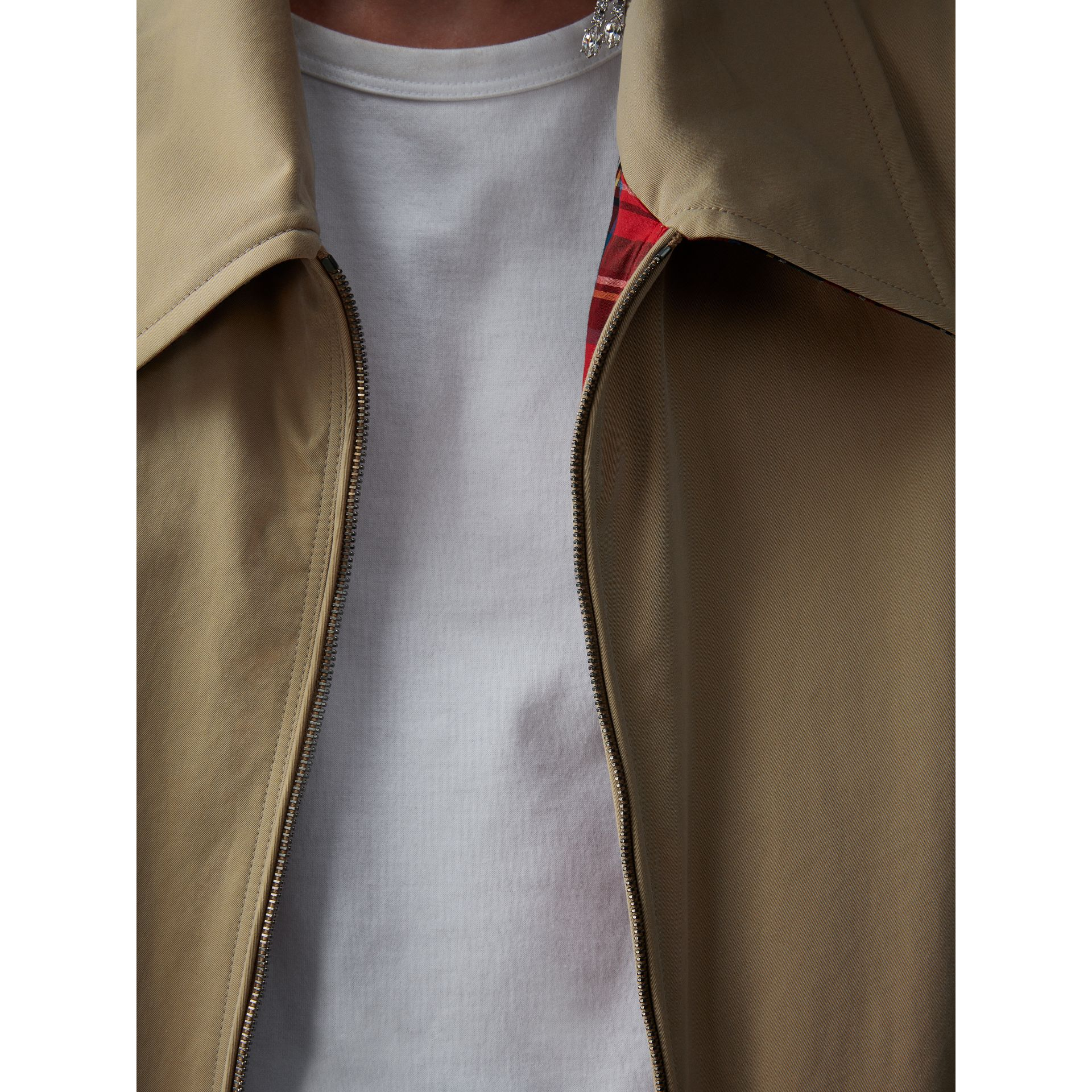 Tropical Gabardine Harrington Jacket in Honey - Women | Burberry - gallery image 1