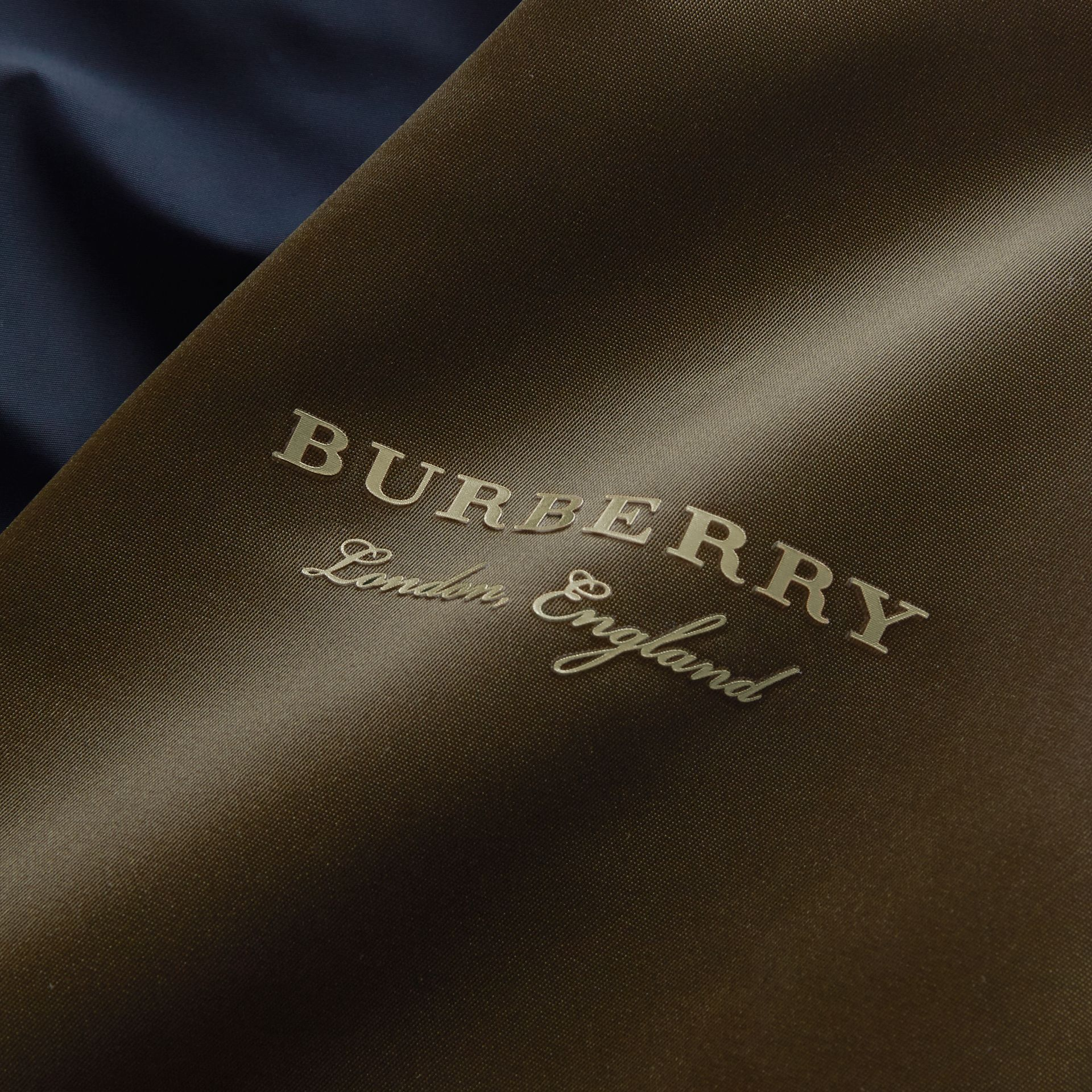 Two-tone Shape-memory Taffeta Bomber Jacket in Ink - Men | Burberry - gallery image 2