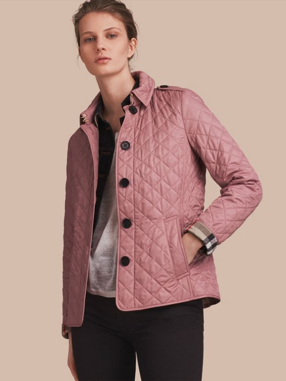 Diamond Quilted Jacket in Vintage Rose