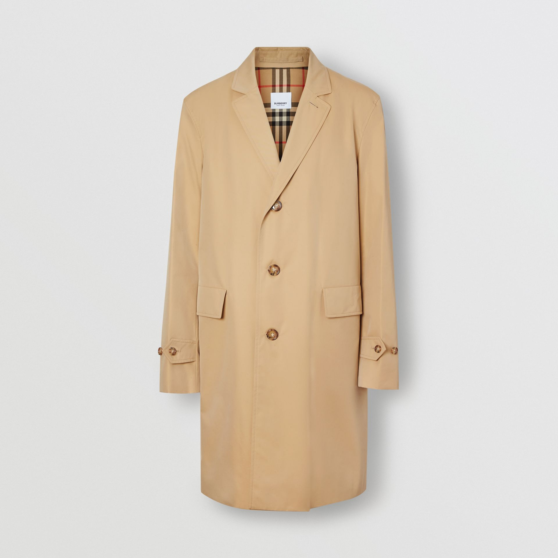 Cotton Gabardine Car Coat in Honey - Men | Burberry Hong Kong - gallery image 3
