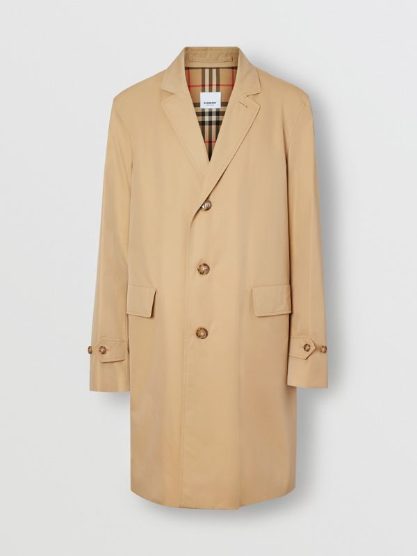 Cotton Gabardine Car Coat in Honey - Men | Burberry Hong Kong - cell image 3