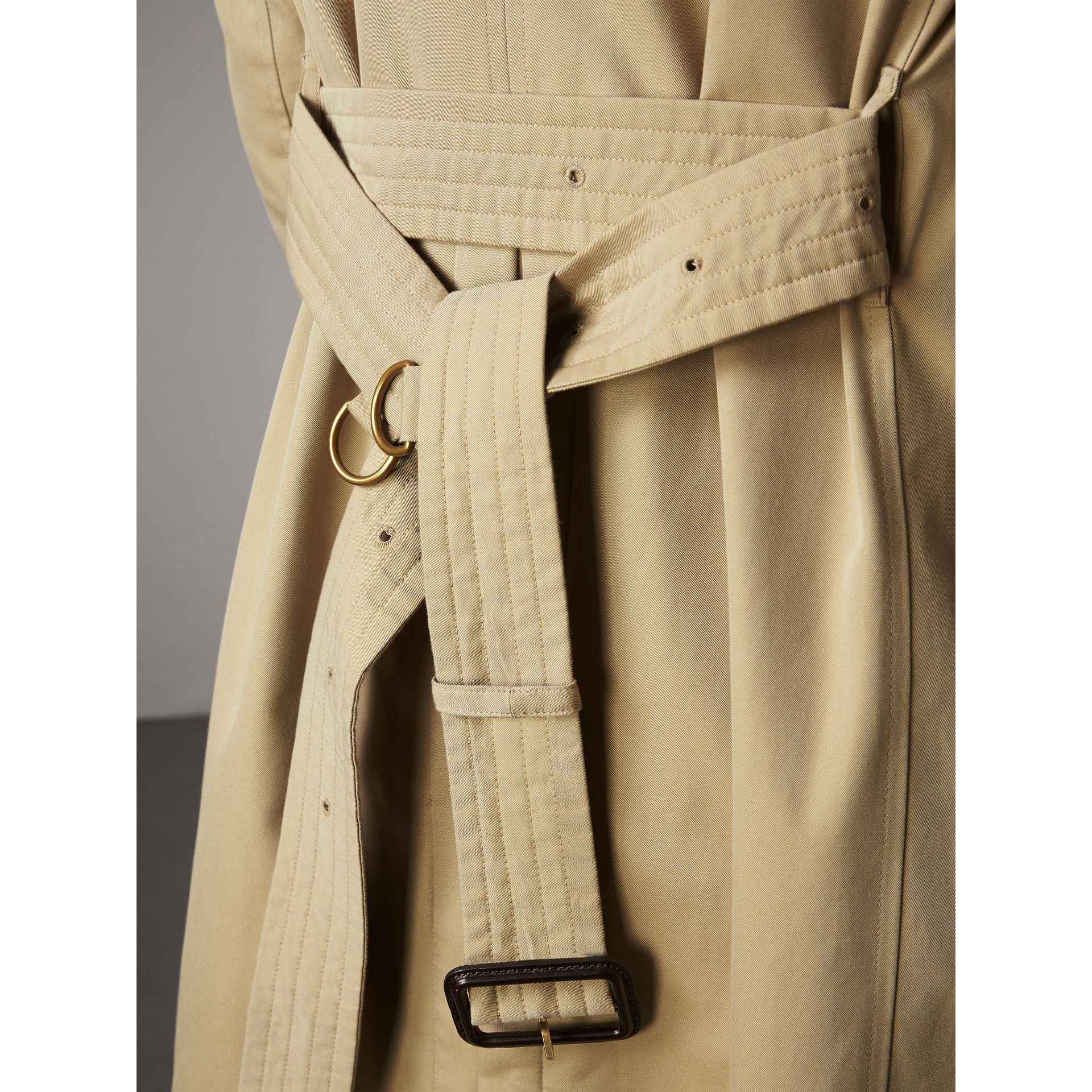 The Sandringham – Long Trench Coat in Honey - Men | Burberry United States - gallery image 5