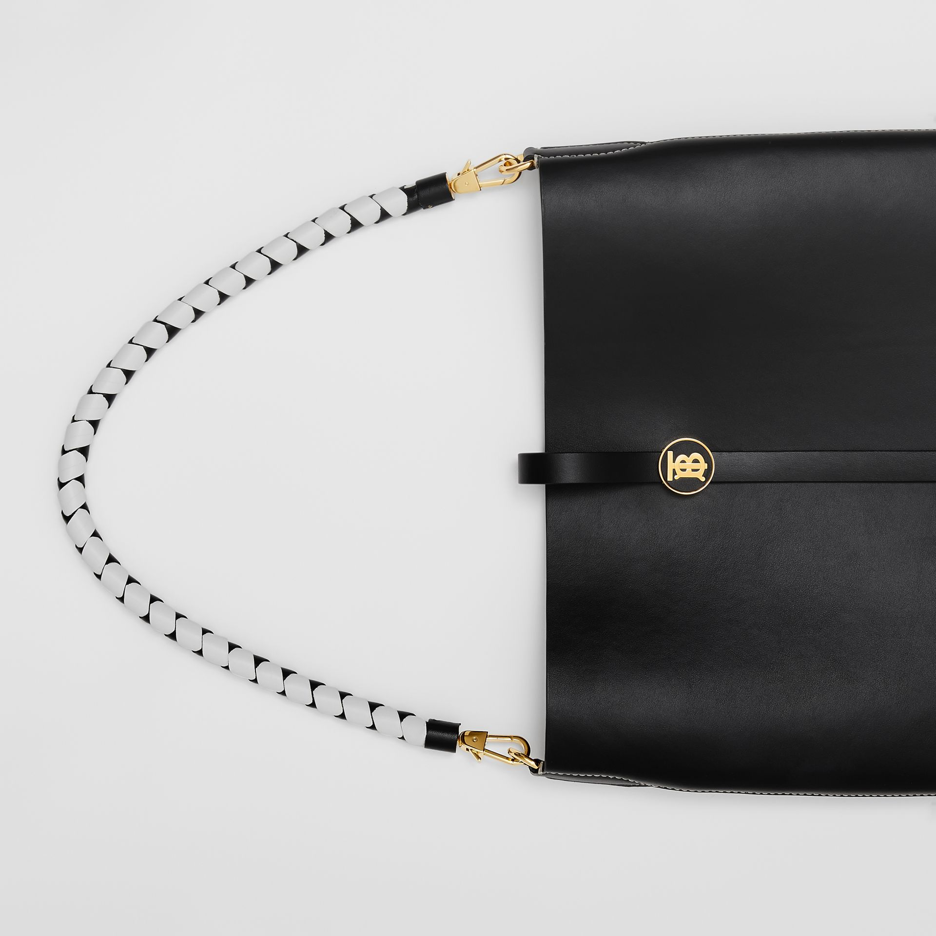 Leather Anne Bag in Black - Women | Burberry - gallery image 1