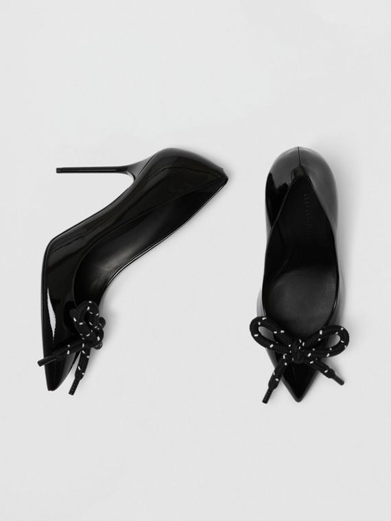 The Patent Leather Rope Stiletto in Black