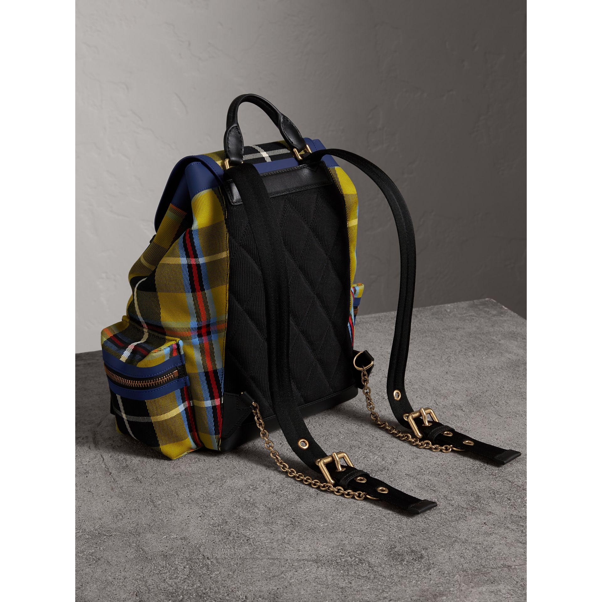 The Medium Rucksack in Tartan and Vintage Check in Flax Yellow - Women | Burberry Australia - gallery image 2