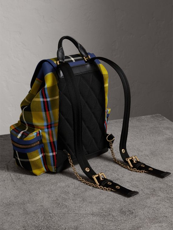The Medium Rucksack in Tartan and Vintage Check in Flax Yellow - Women | Burberry Australia - cell image 2