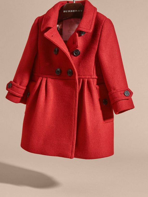 Tailored Wool Cashmere Blend Coat in Damson Red - cell image 2