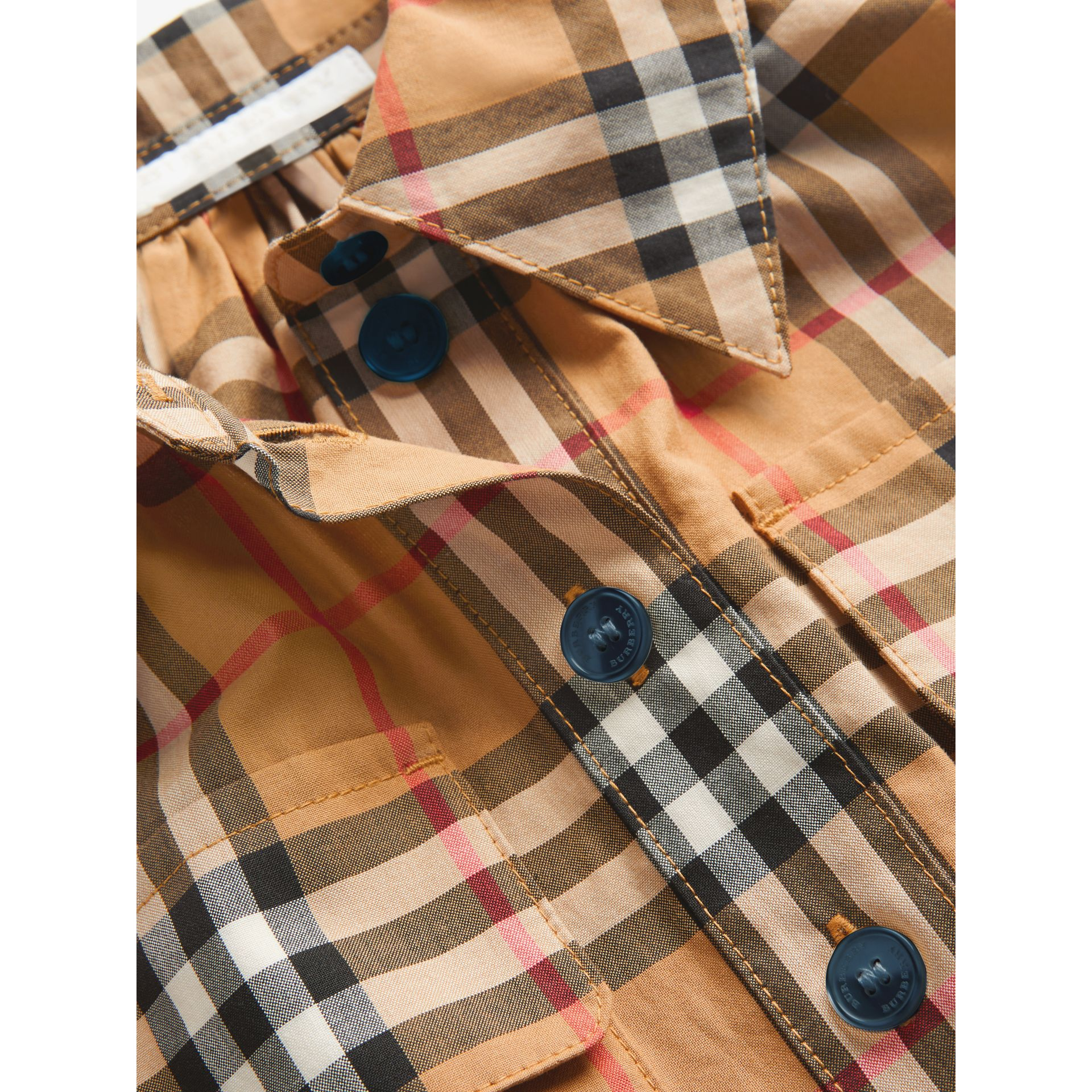 Robe chemise à motif Vintage check (Jaune Antique) | Burberry Canada - photo de la galerie 1