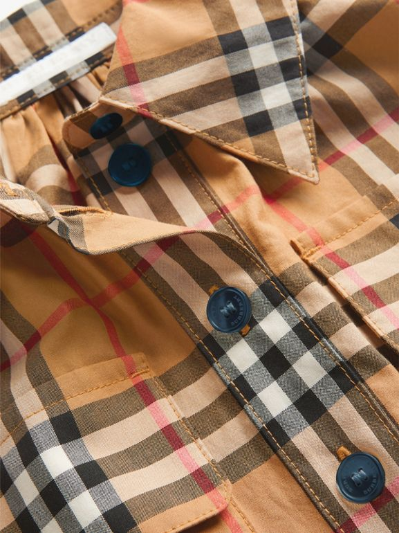 Robe chemise à motif Vintage check (Jaune Antique) | Burberry Canada - cell image 1