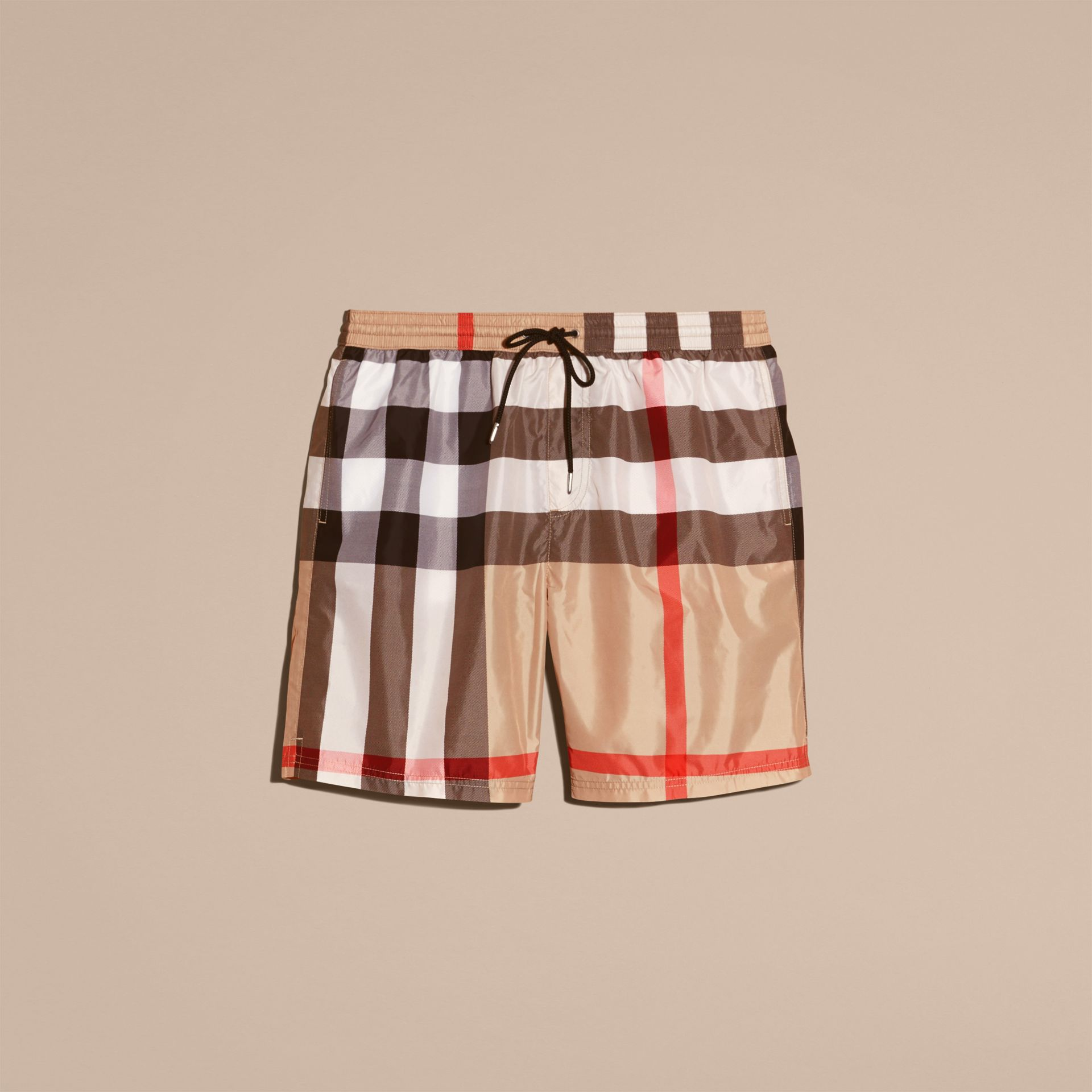 Check Swim Shorts Camel - gallery image 4