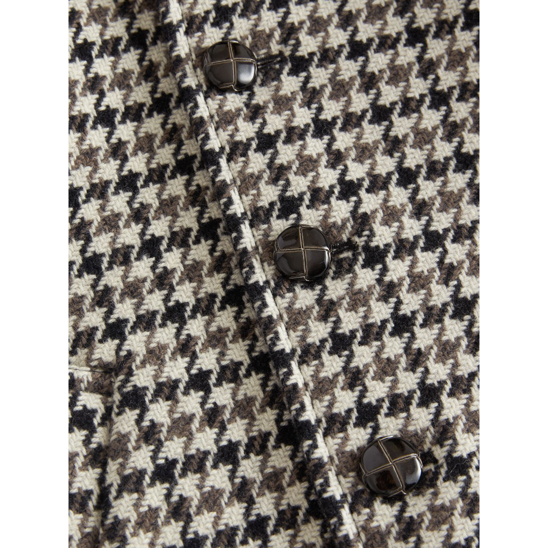 Houndstooth Check Wool Cashmere Blend Coat in Mid Grey | Burberry - gallery image 4