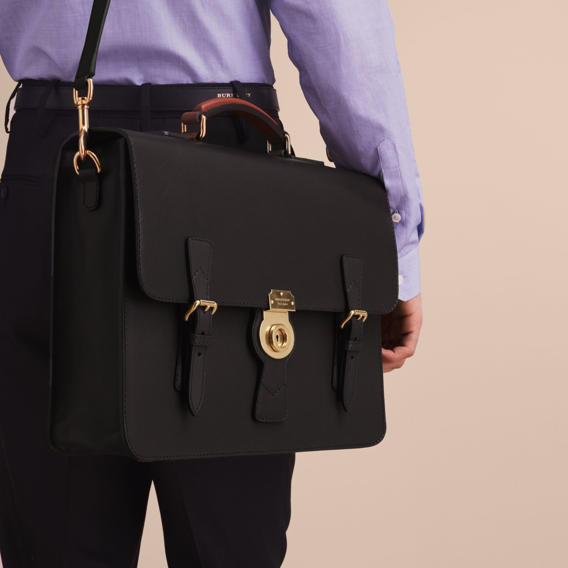 The Medium DK88 Satchel in Black - Men | Burberry United Kingdom - gallery image 8