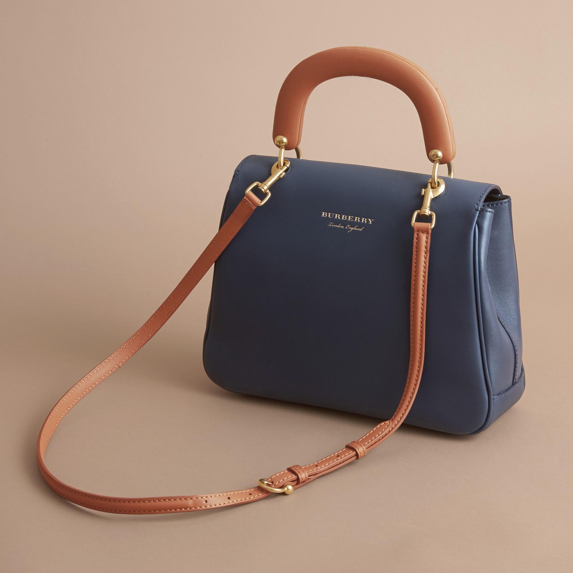 The Medium DK88 Top Handle Bag Ink Blue - gallery image 5