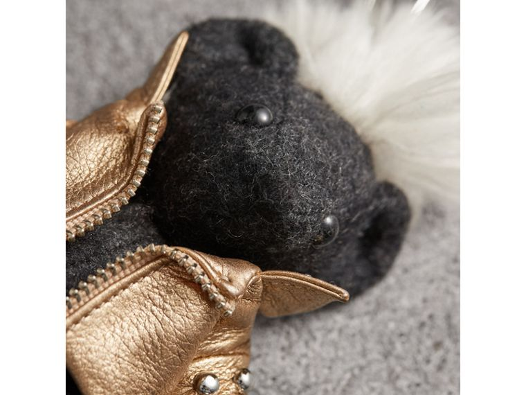 The Punk Thomas Bear Charm in Charcoal | Burberry - cell image 1