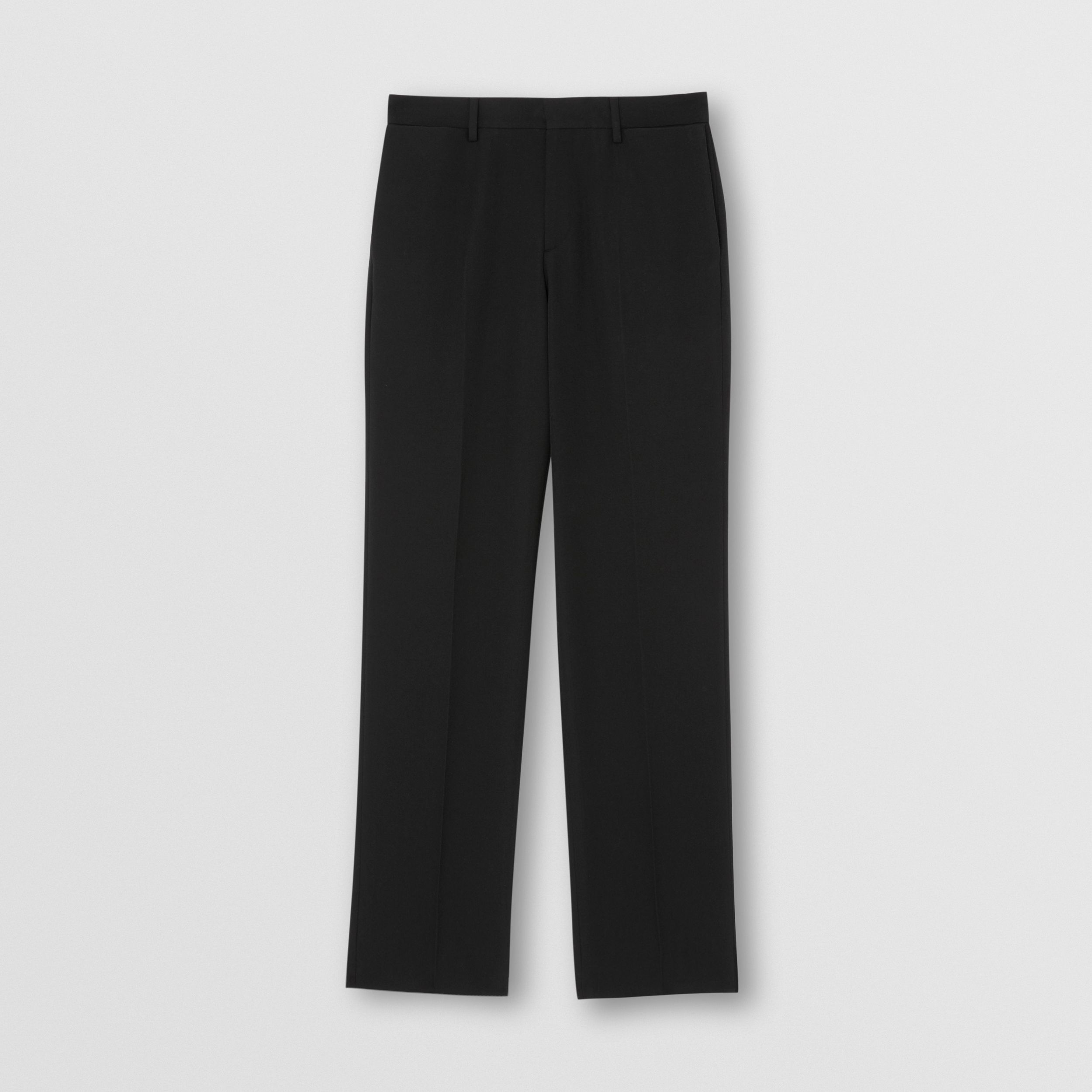 English Fit Pocket Detail Wool Tailored Trousers in Black - Men | Burberry - 4
