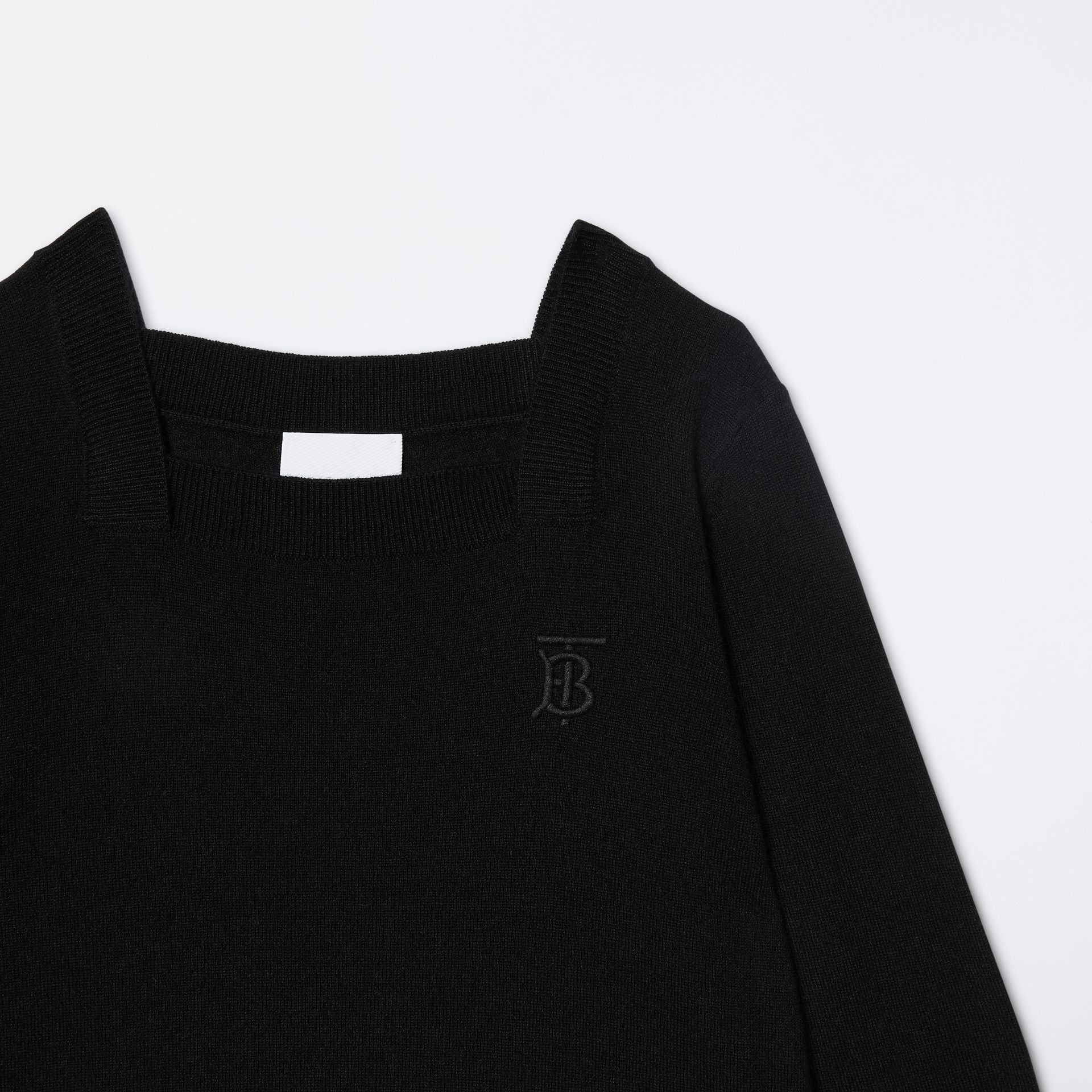 Monogram Motif Cashmere Sweater in Black | Burberry - gallery image 5