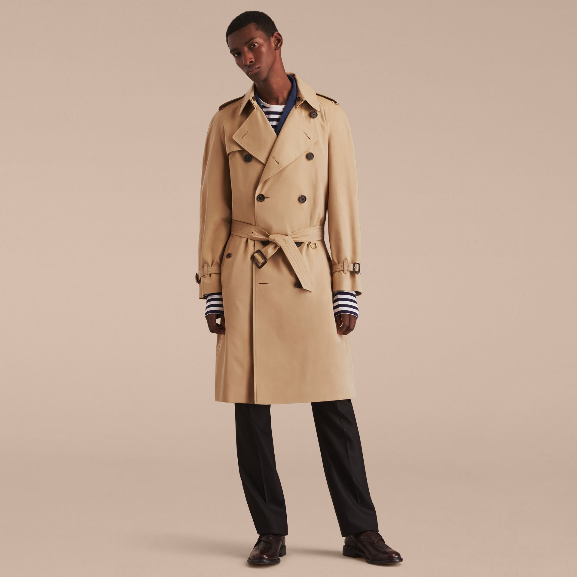 Honey The Westminster – Long Heritage Trench Coat Honey - gallery image 9