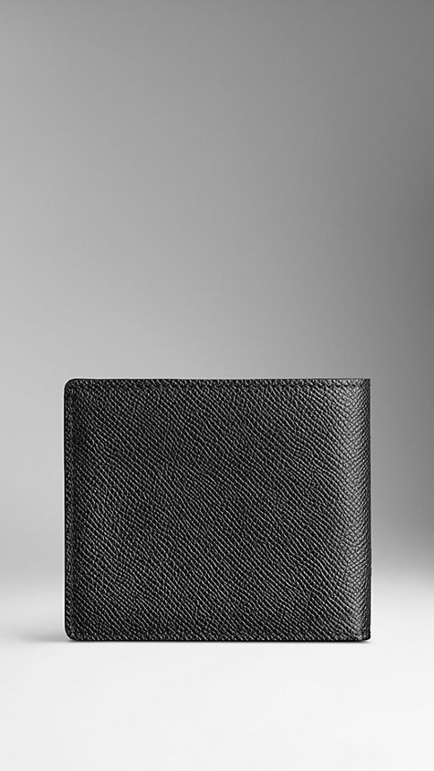 Black London Leather ID Wallet Black - Image 2