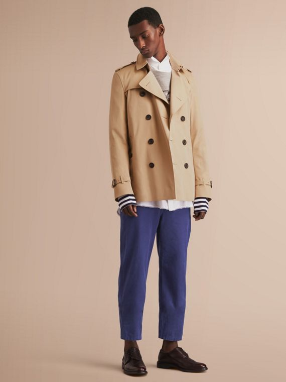 The Kensington - Trench coat Heritage corto Miele