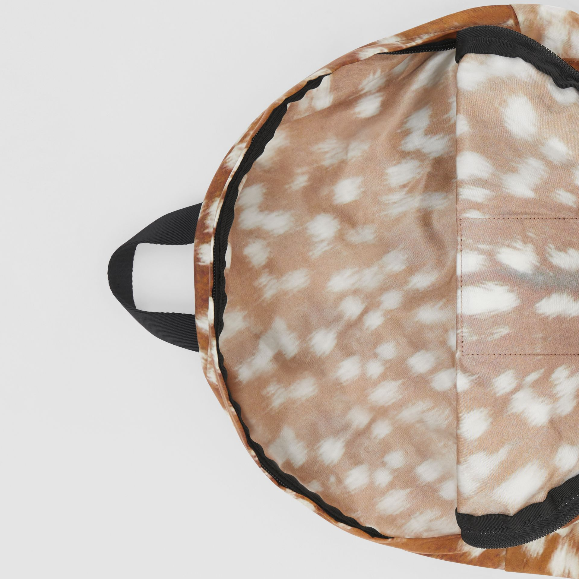 Deer Print Convertible Bum Bag in Tan/white | Burberry - gallery image 5