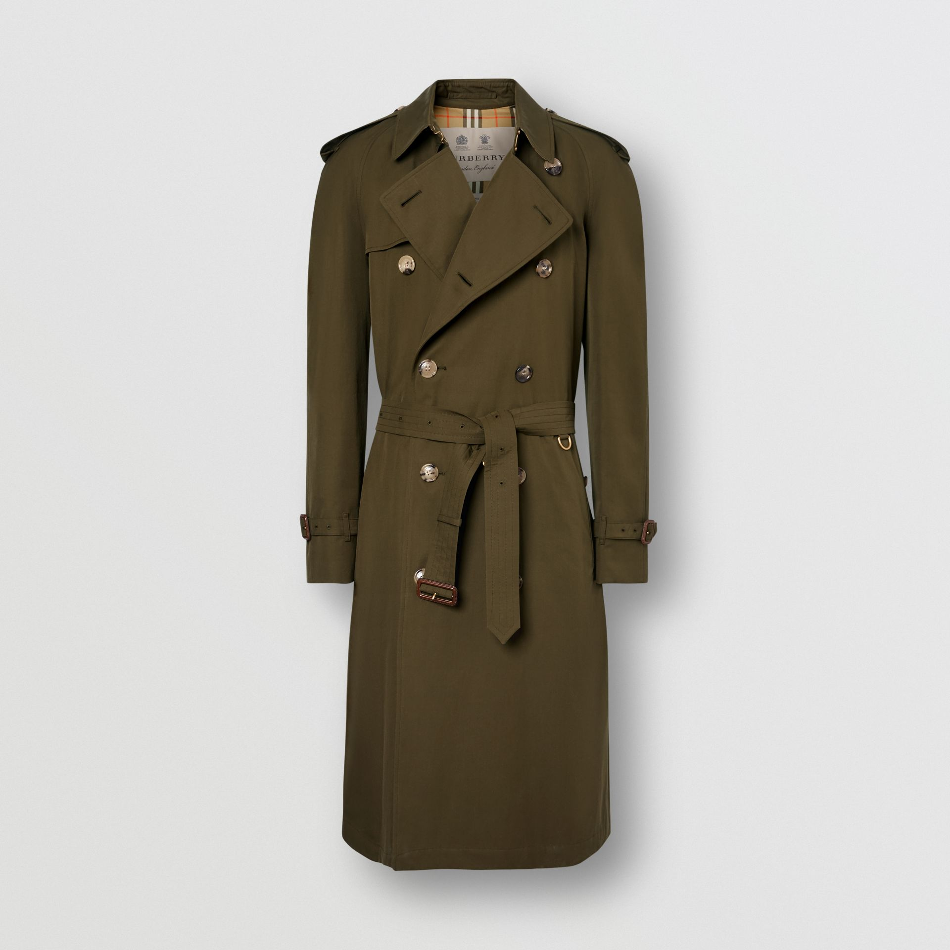 The Westminster Heritage Trench Coat in Dark Military Khaki - Men | Burberry Singapore - gallery image 2