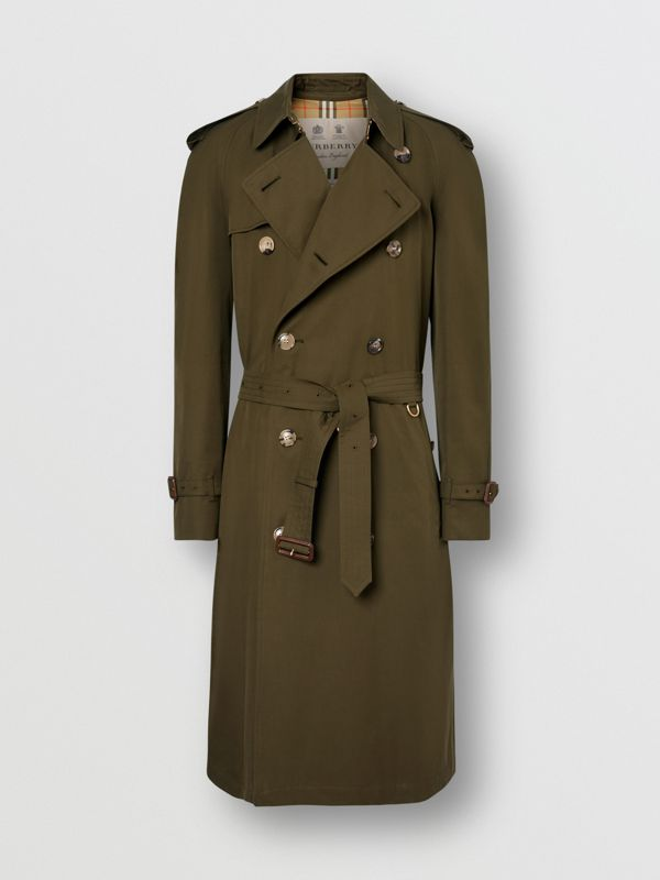 The Westminster Heritage Trench Coat in Dark Military Khaki - Men | Burberry Singapore - cell image 2
