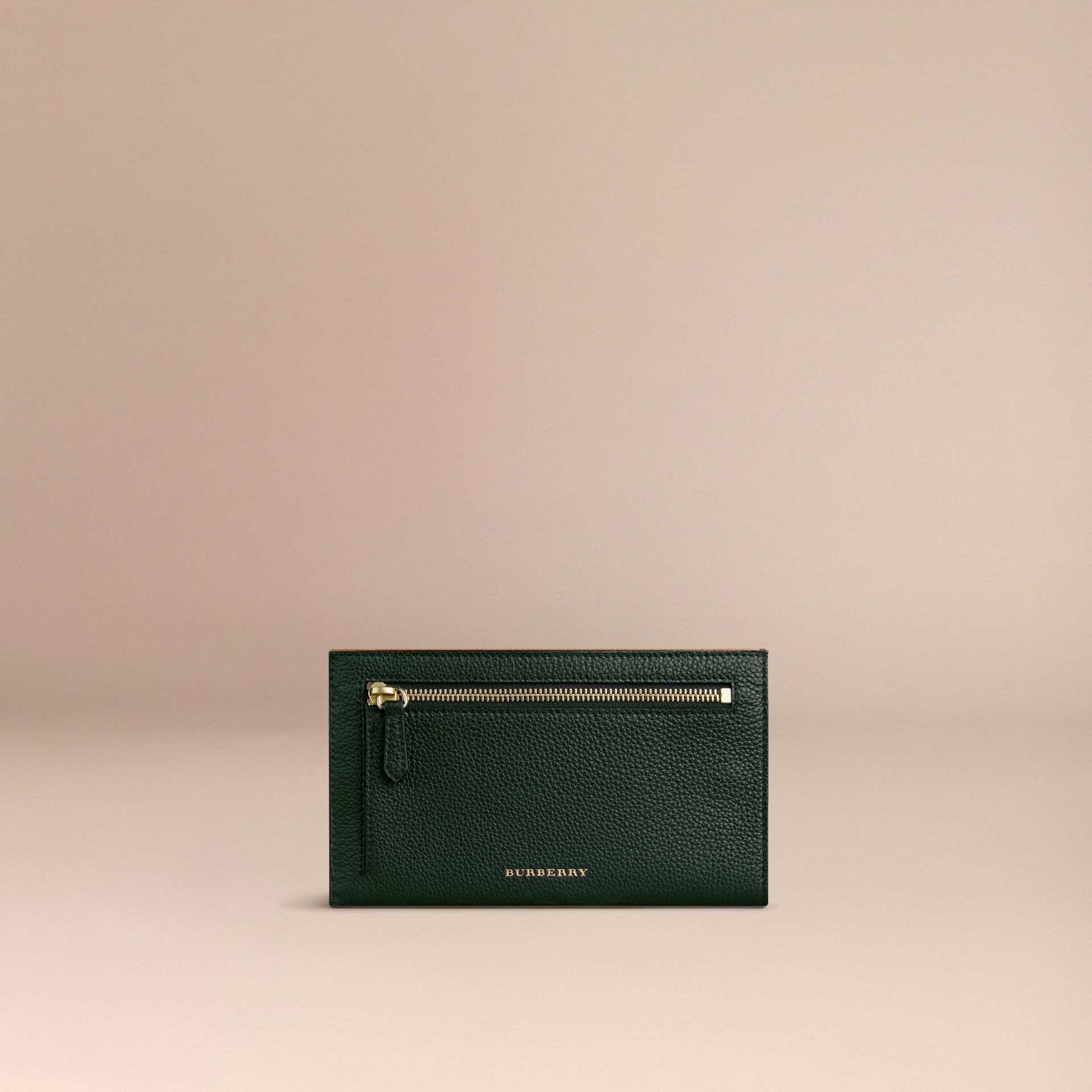 Grainy Leather Travel Case in Dark Forest Green - gallery image 2