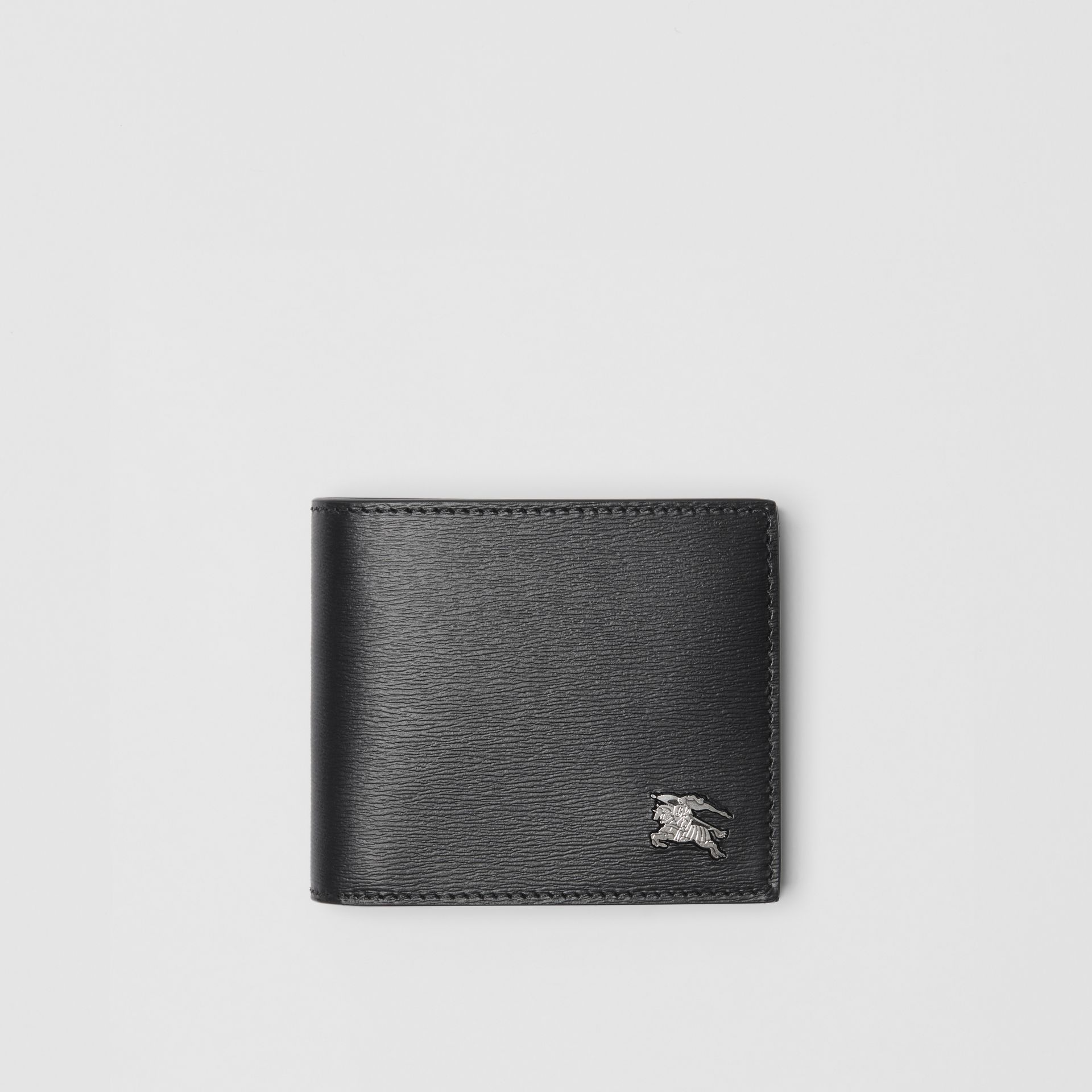 EKD London Leather Bifold Wallet with ID Card Case in Black - Men | Burberry Australia - gallery image 0
