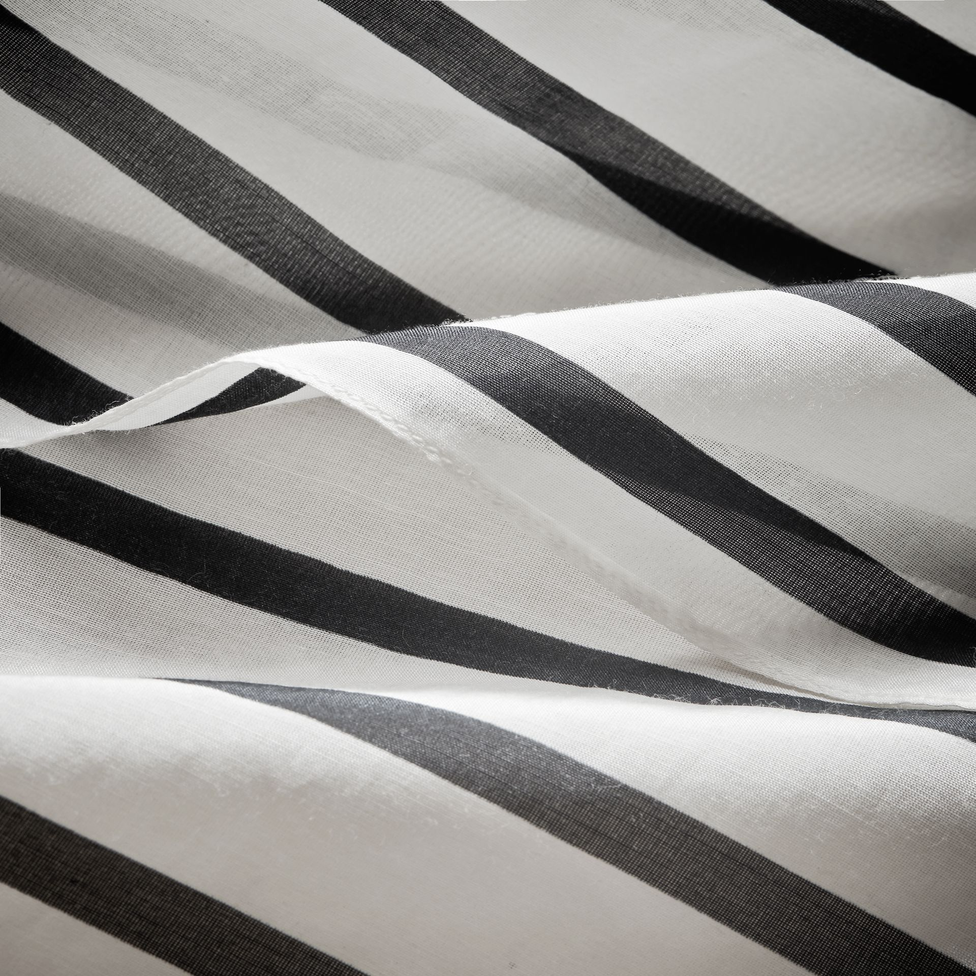 Striped Cotton Silk Kaftan - Women | Burberry Hong Kong - gallery image 2