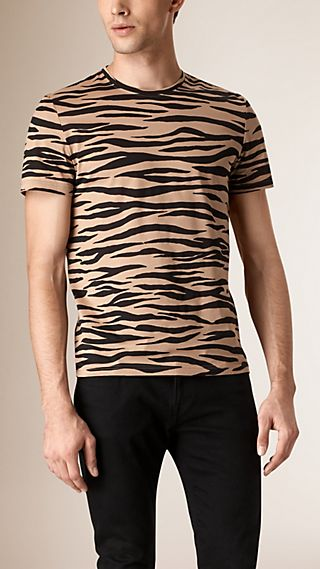 Animal Print Cotton T-Shirt