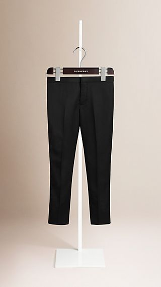 Tailored Wool Tuxedo Trousers