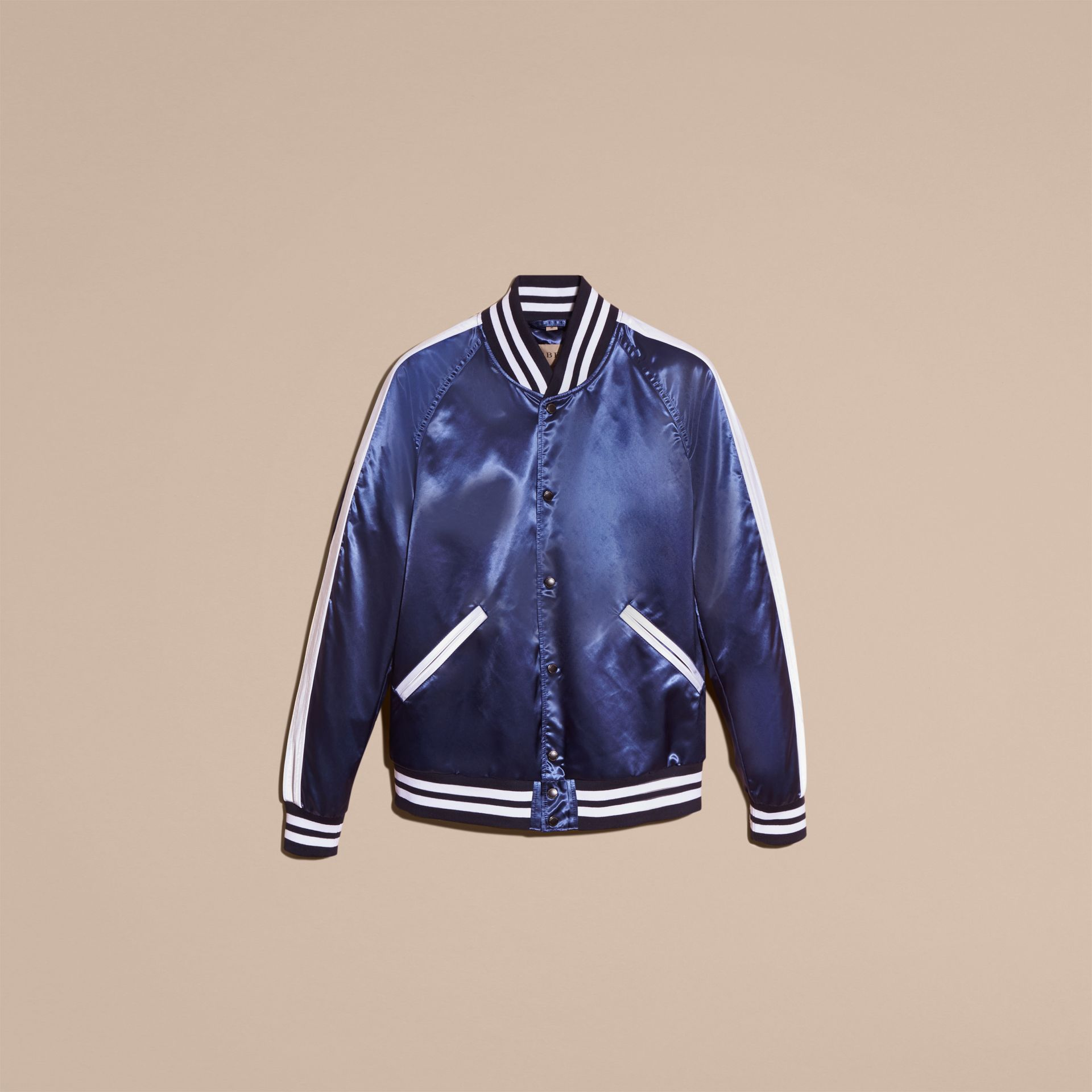 Bright navy Varsity Bomber Jacket - gallery image 4