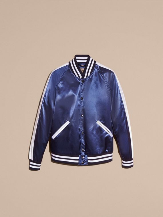 Bright navy Varsity Bomber Jacket - cell image 3
