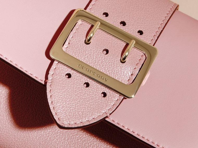 The Buckle Crossbody Bag in Leather in Dusty Pink - cell image 1