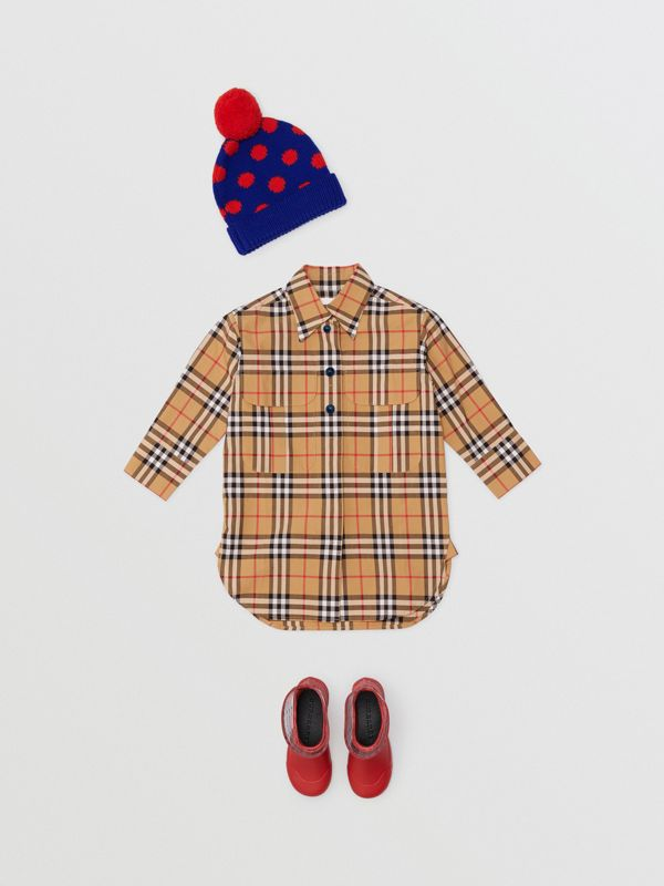 Vintage Check Shirt Dress in Antique Yellow | Burberry - cell image 2