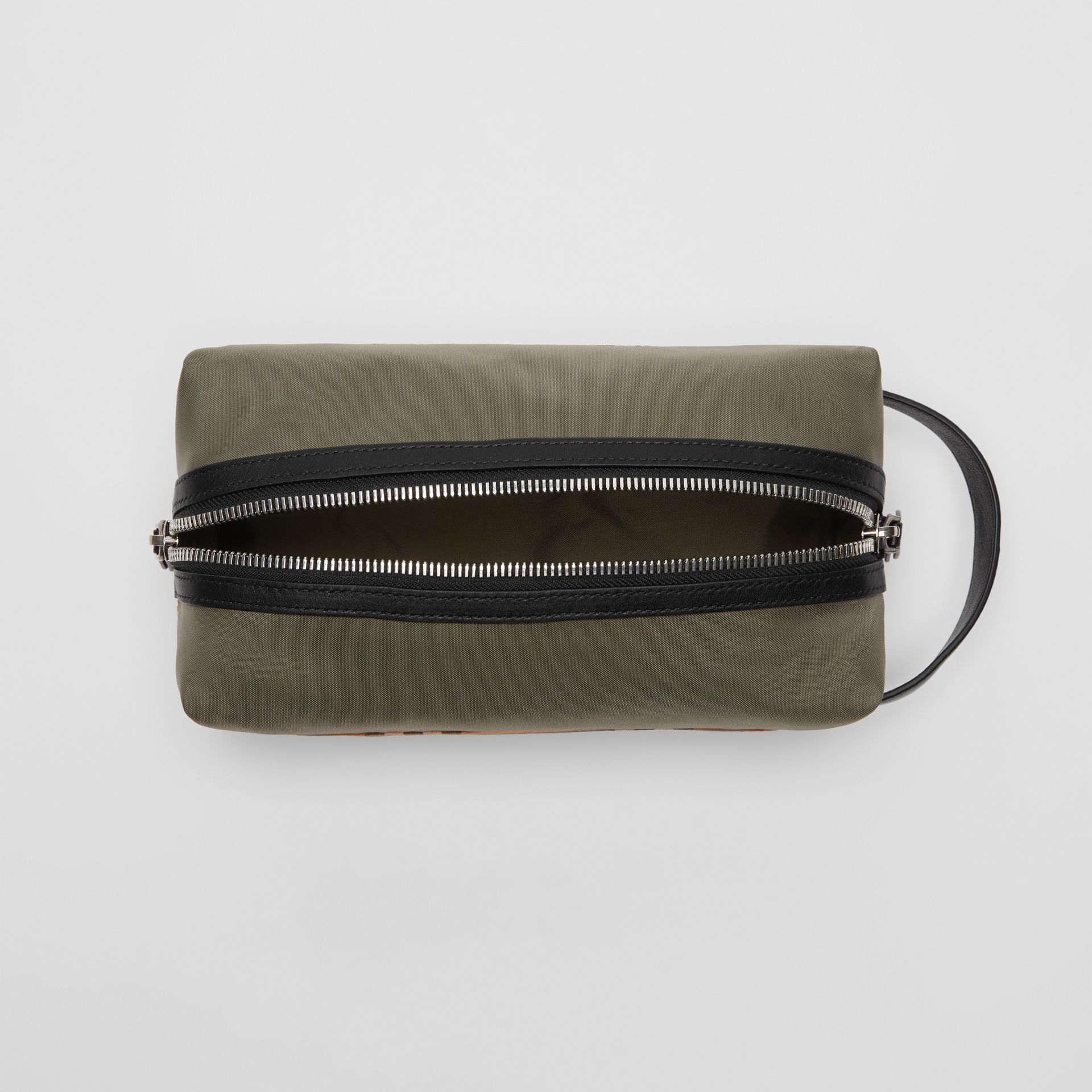 Vintage Check and Colour Block Pouch in Military Green/vintage | Burberry - gallery image 4