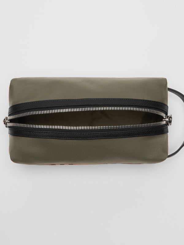 Vintage Check and Colour Block Pouch in Military Green/vintage - Men | Burberry - cell image 3