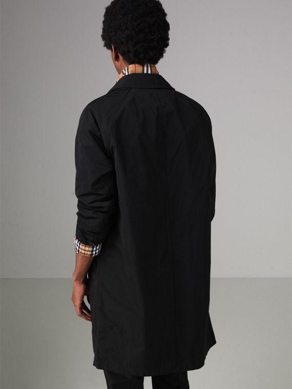 Shape-memory Taffeta Car Coat with Warmer in Black - Men | Burberry - cell image 2