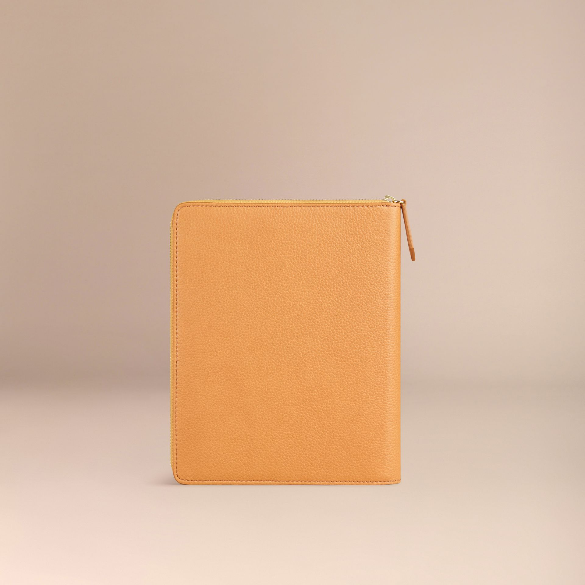 Ziparound Grainy Leather 18 Month 2016/17 A5 Diary in Ochre Yellow - gallery image 3