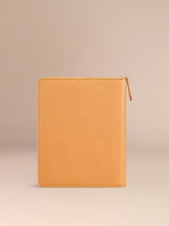 Ziparound Grainy Leather 18 Month 2016/17 A5 Diary in Ochre Yellow | Burberry - cell image 2