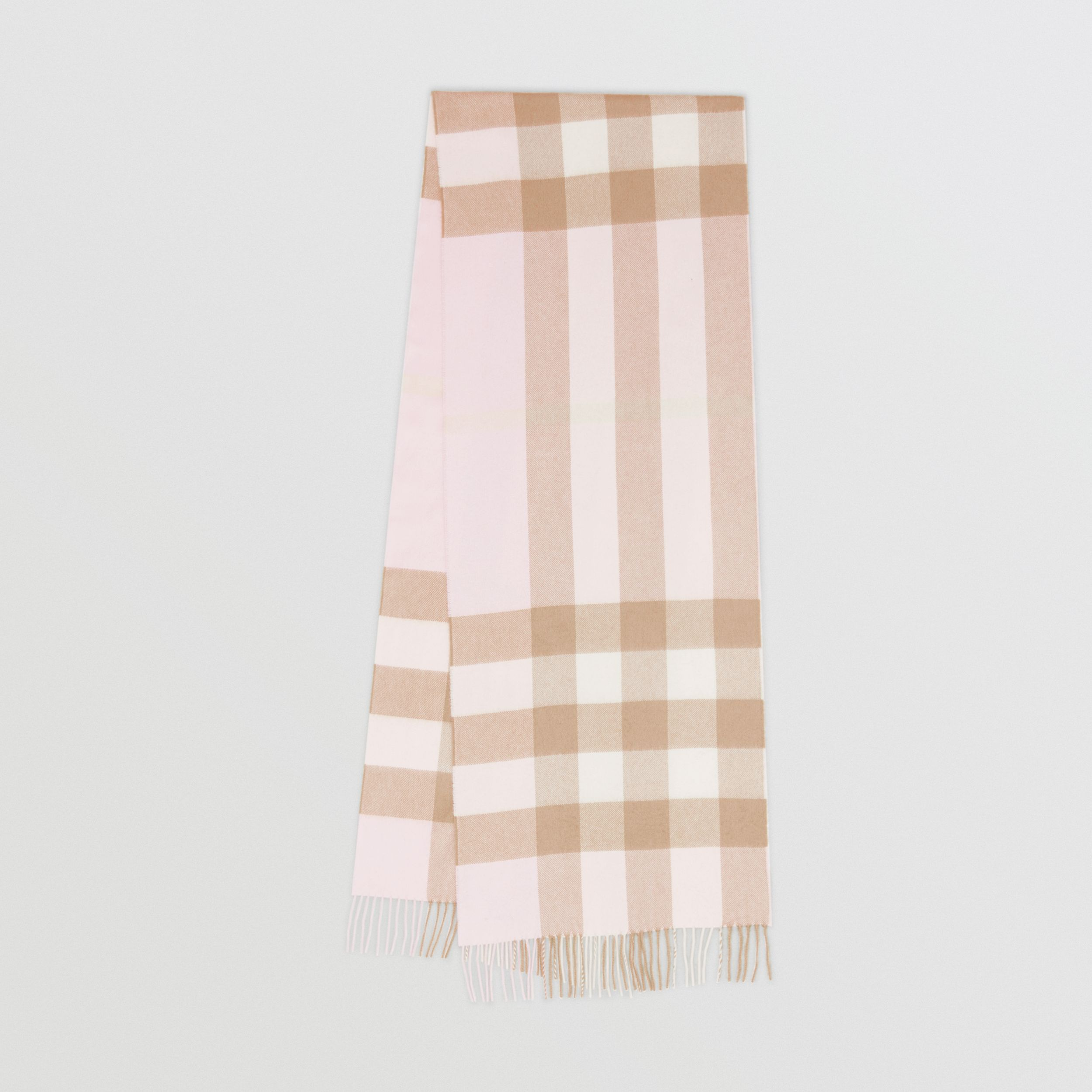 Check Cashmere Scarf in Alabaster Pink | Burberry - 1