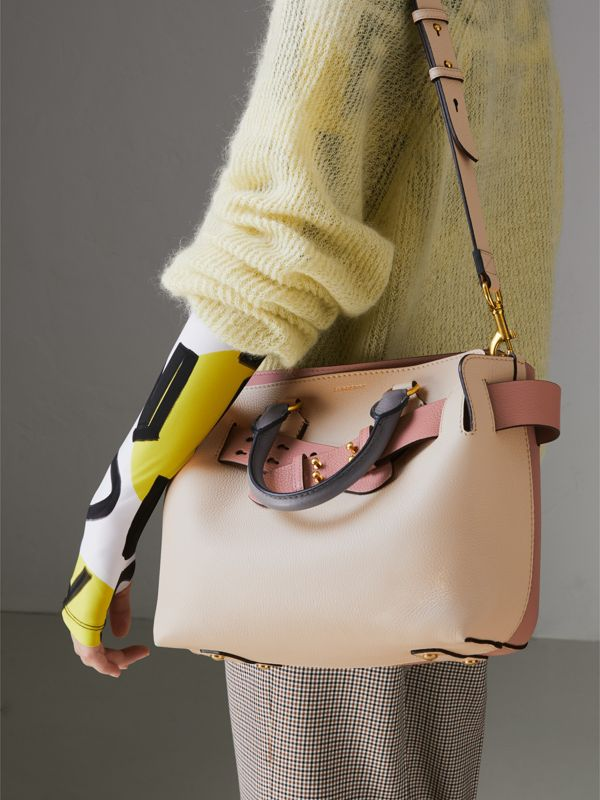 The Small Tri-tone Leather Belt Bag in Limestone/dusty Rose - Women | Burberry Singapore - cell image 3