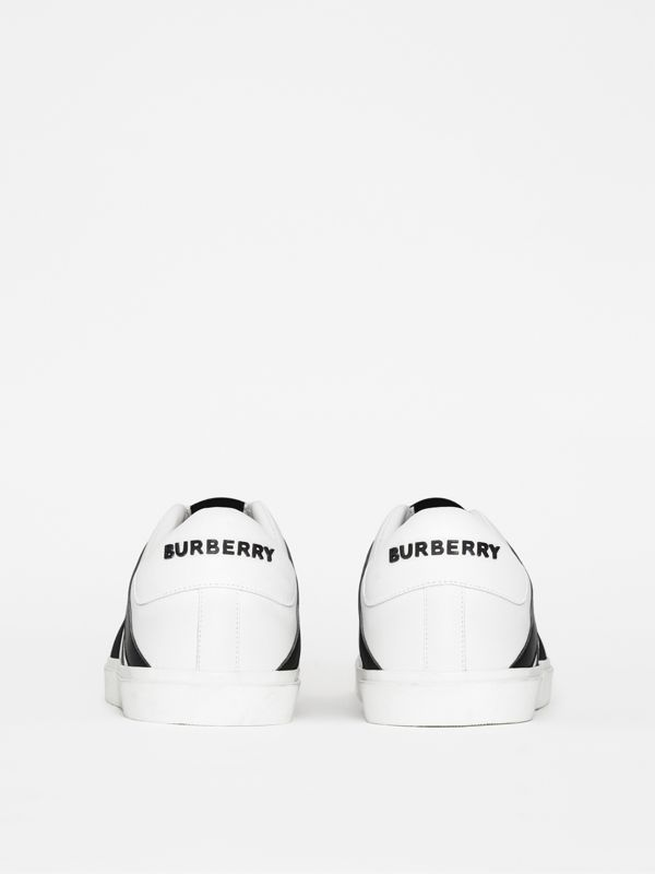 Union Jack Motif Slip-on Sneakers in White - Men | Burberry United Kingdom - cell image 3