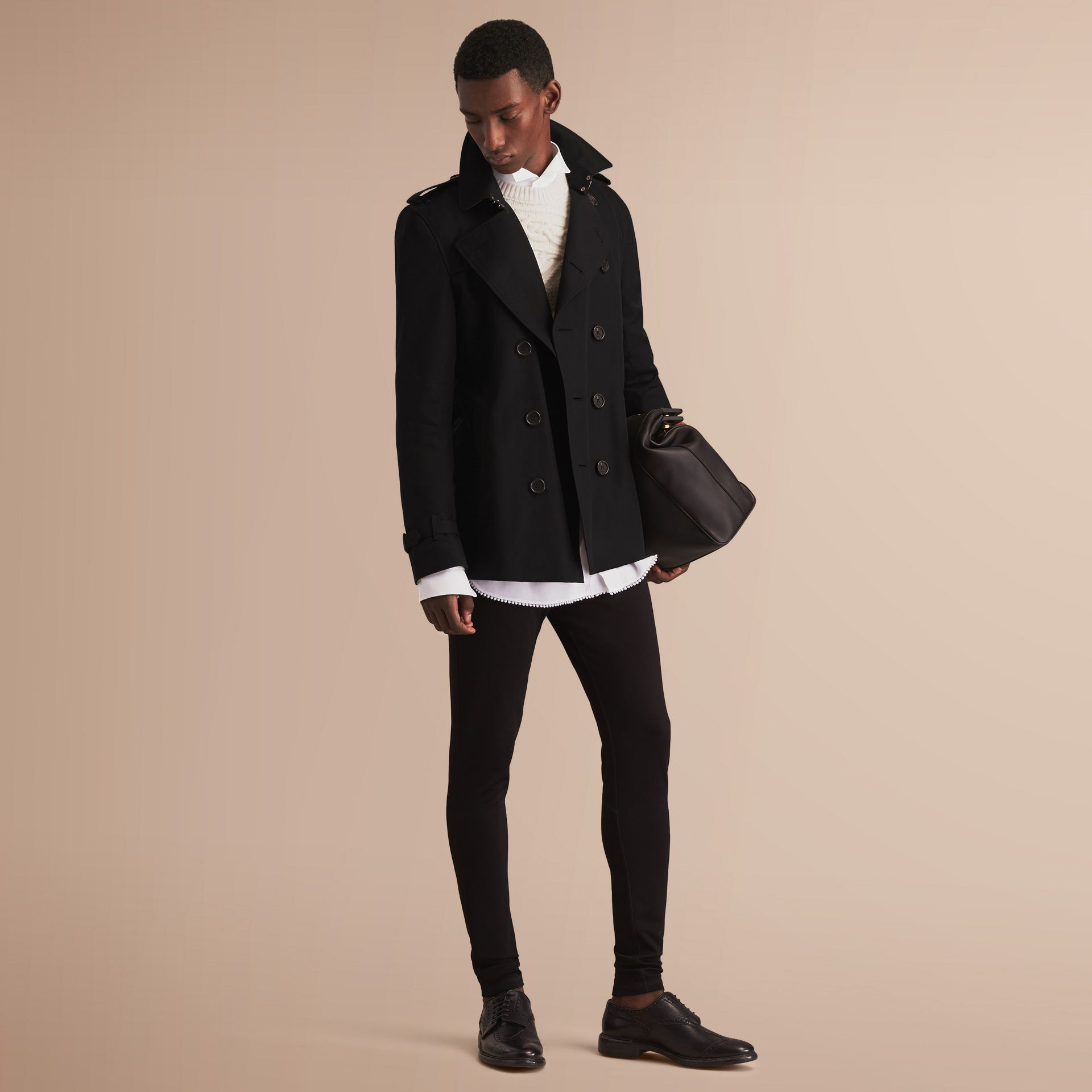 The Kensington – Short Heritage Trench Coat in Black - gallery image 1