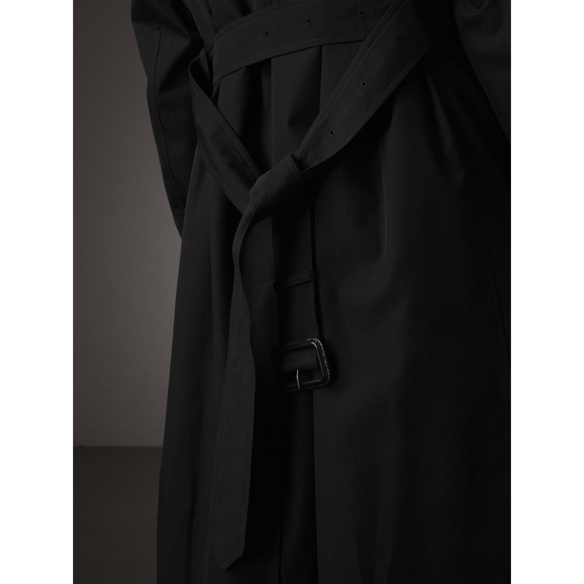 The Brighton – Longline Car Coat in Black - Women | Burberry - gallery image 6