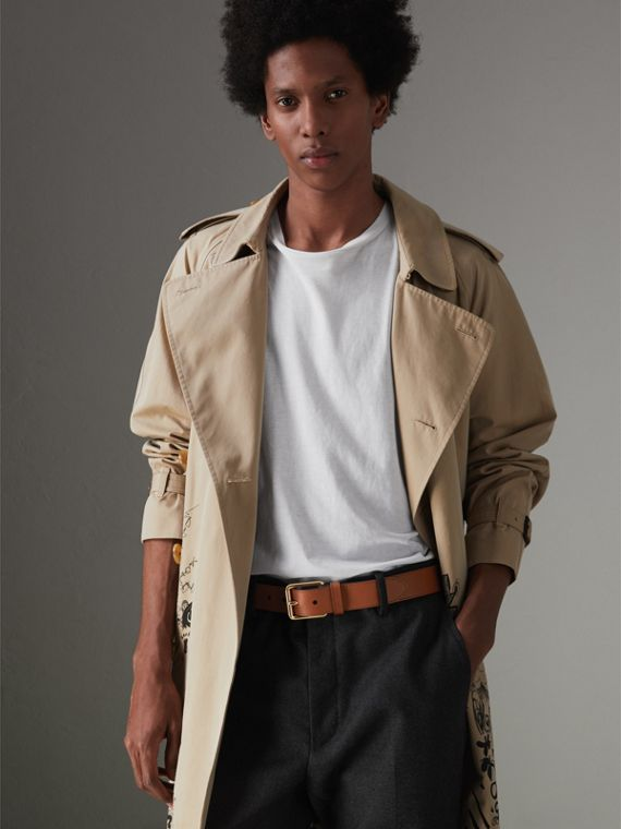 Cintura in pelle Trench (Marroncino) - Uomo | Burberry - cell image 2