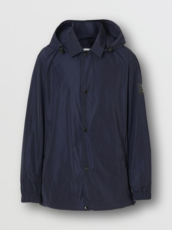 Detachable Hood Shape-memory Taffeta Jacket in Ink - Men | Burberry United Kingdom - cell image 3