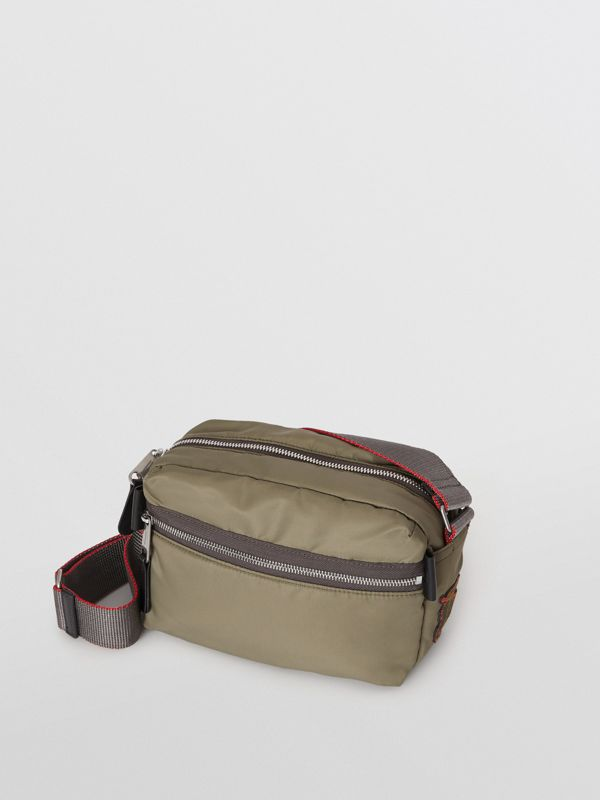 EKD Aviator Nylon and Leather Crossbody Bag in Celadon - Men | Burberry - cell image 3